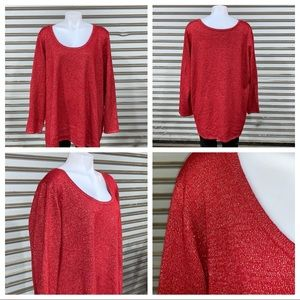 Avenue size 22/24 red shimmery top